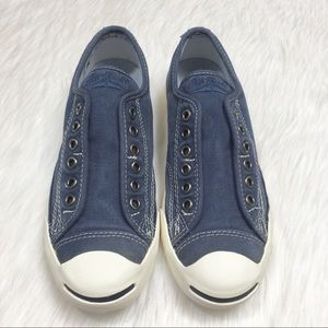 Lace-Free Jack Purcell Converse Sneakers 7.5